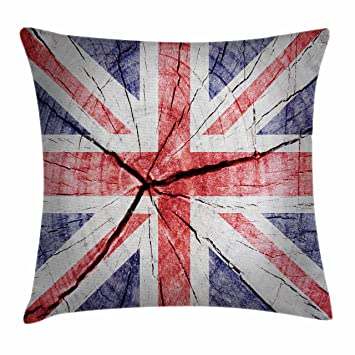Lovely Union Jack Throw Pillow Cushion Cover By Ambesonne, National Symbol Flag Of  United Kingdom On Awesome Ideas