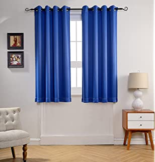 Delightful MYSKY HOME Solid Grommet Top Thermal Insulated Window Blackout Curtains For  Living Room, 52 By