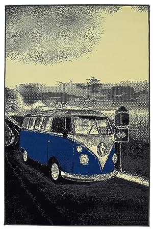 Tapis De Sol Style Retro A Motif Camping Car Volkswagen