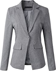 Beninos Womens Formal One Button Boyfriend Blazer Jacket