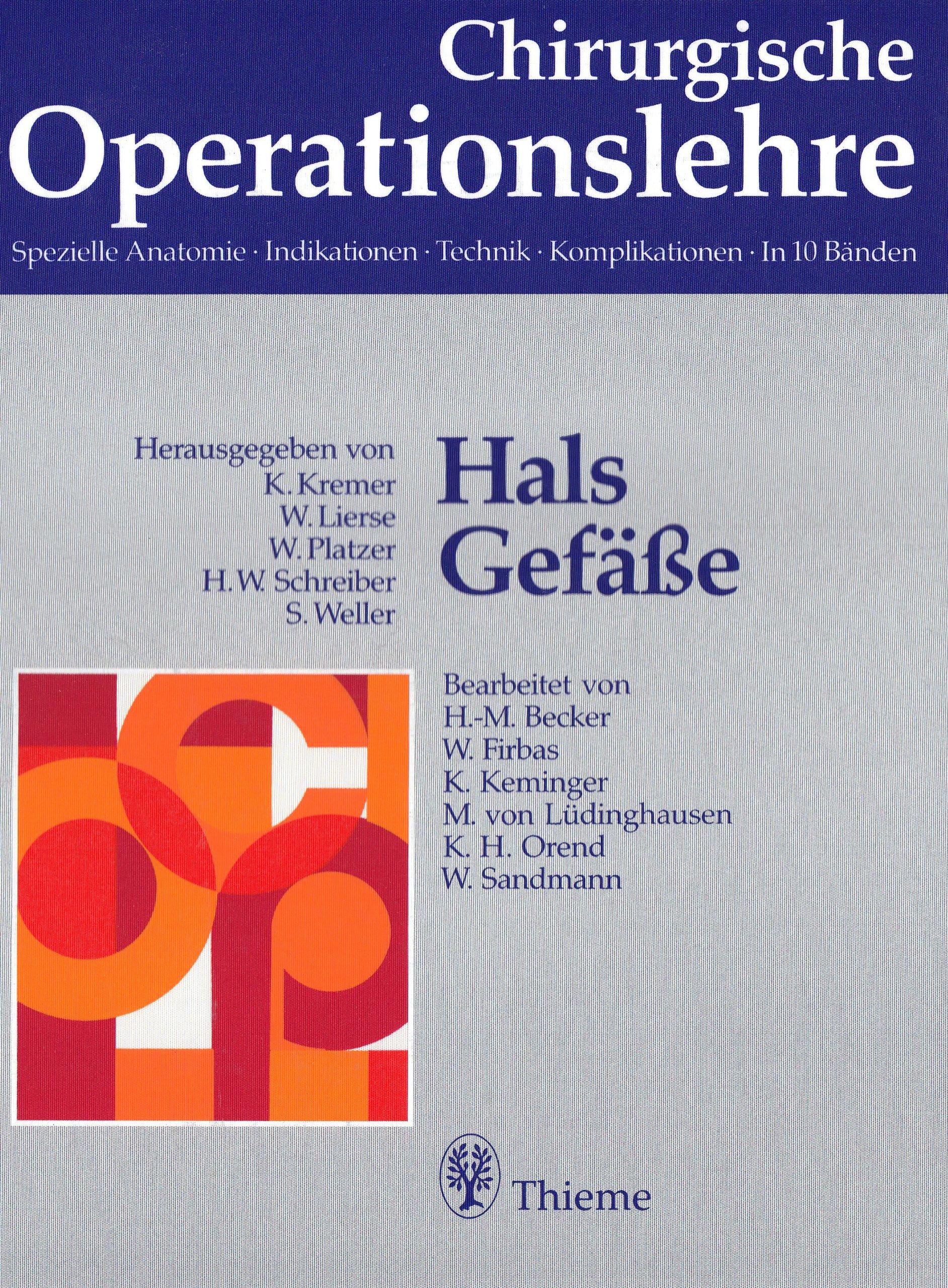 Chirurgische Operationslehre, 10 Bde. in 12 Tl.-Bdn. u. 1 Erg.-Bd ...