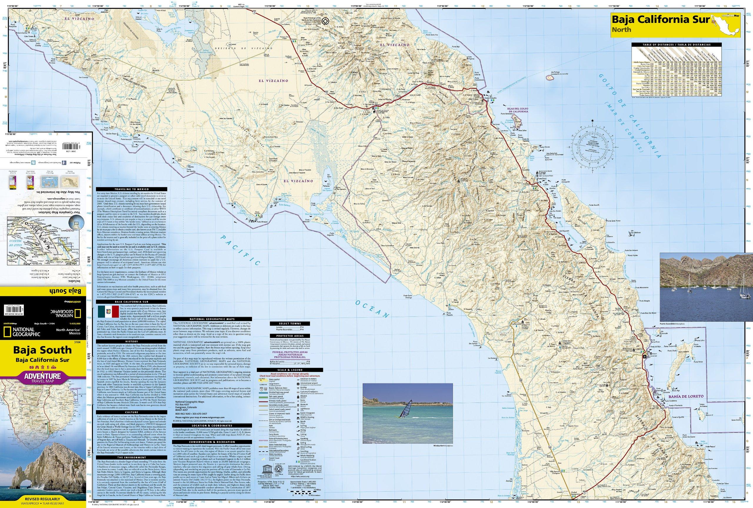 Baja California South: National Geographic Adventure Map ...