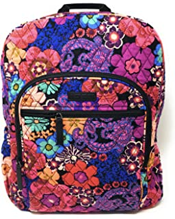 ad9d6935dcbc Vera Bradley Campus Backpack with Solid Color Interior (Updated Version)