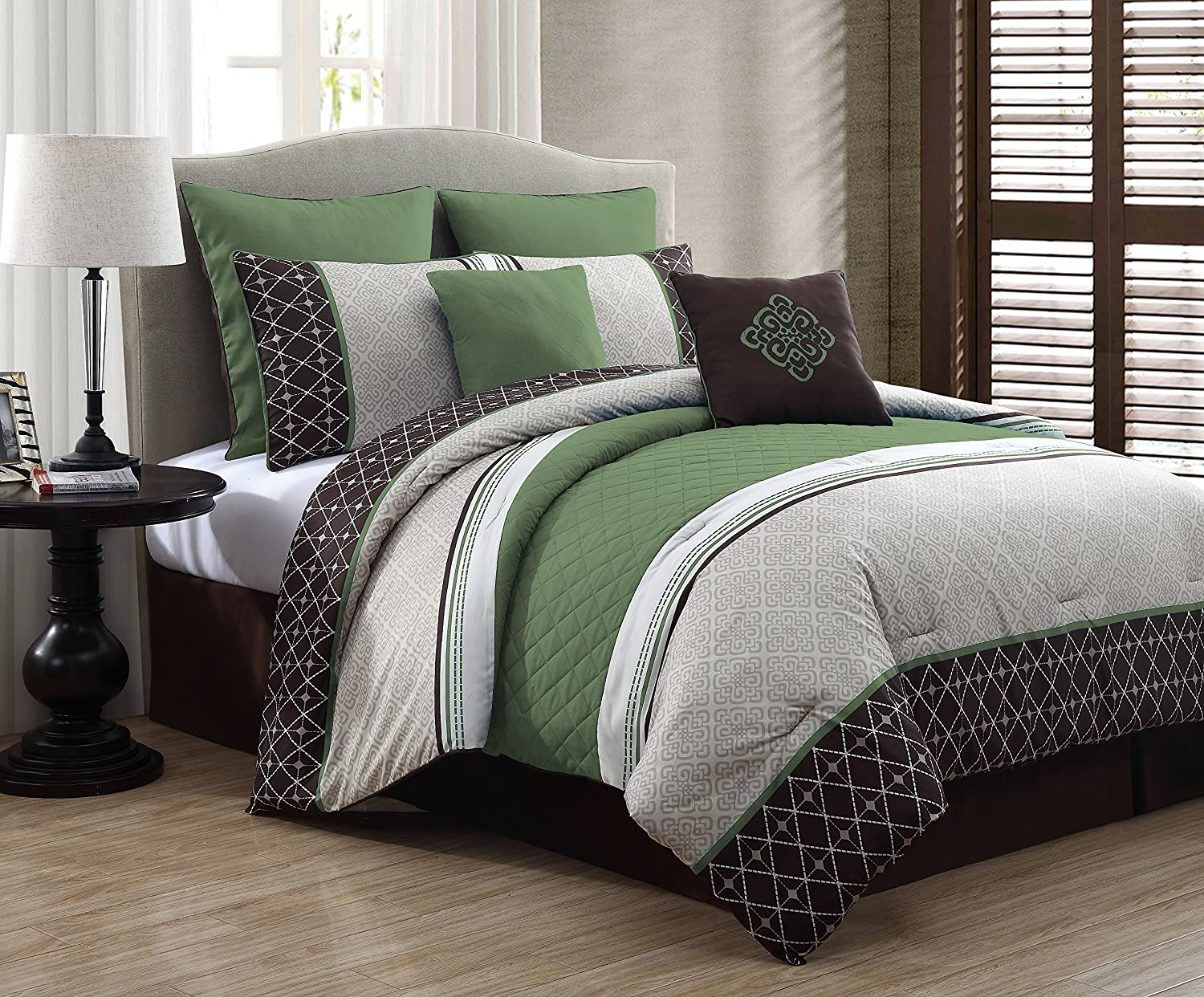 queen comforter green design set sumptuous exclusive