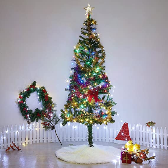 llips christmas plush skirt pure white luxury tree skirt 78cm soft snow white christmas decorations xmas
