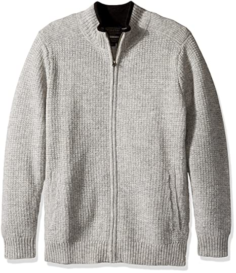 Pendleton Mens Shetland Full Zip Cardingan Sweater At Amazon Mens