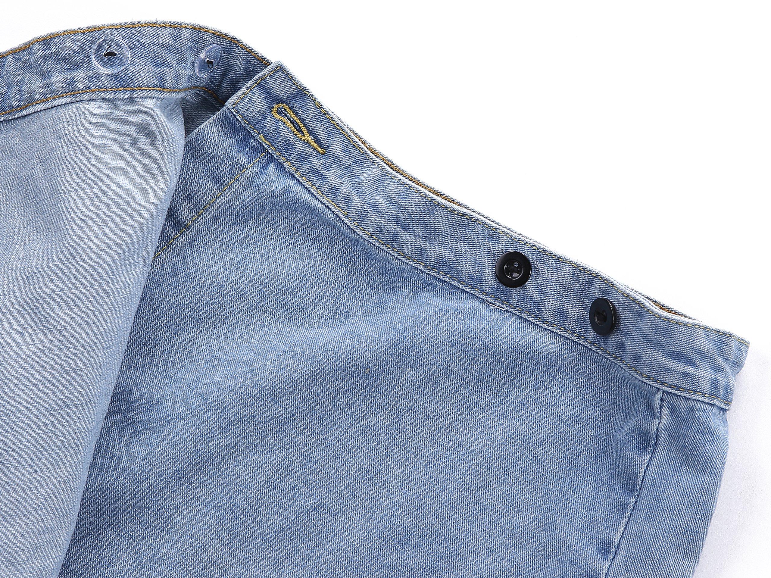 Goddess Area Women\'s Casual Short Denim Skirt (M, Blue1)