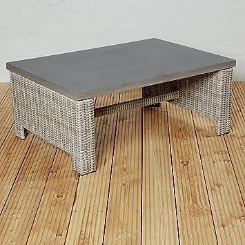 Exklusiver Poly Rattan Gartentisch Couchtisch Für Die Terrasse Oder Den  Garten   Gartenmöbel Für Die Loungegarnitur