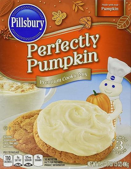 Pillsbury Perfectly Pumpkin Premium Cookie Mix 17 5 Oz Amazon Com Grocery Gourmet Food