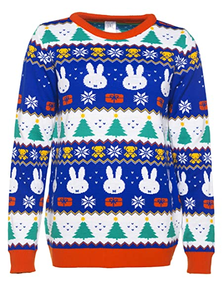 TruffleShuffle Exclusive Miffy Fairisle Knitted Sweater at Amazon ...