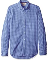 Franklin Tailored Men's Regular-Fit Long-Sleeve Small-Scale Gingham Shirt