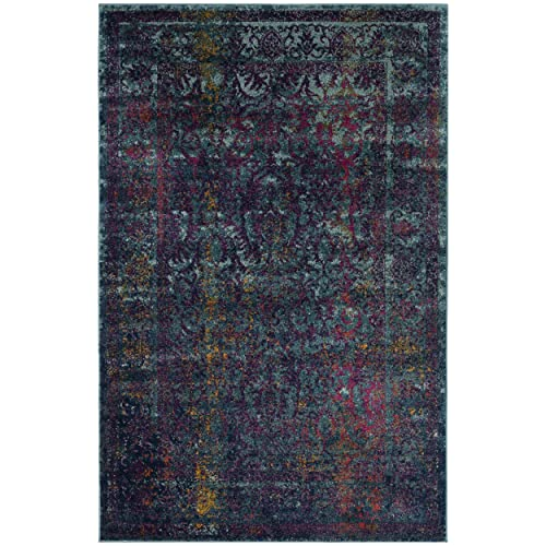 Safavieh Granada Collection GRA351C Blue and Multi Area Rug, 4 x 6