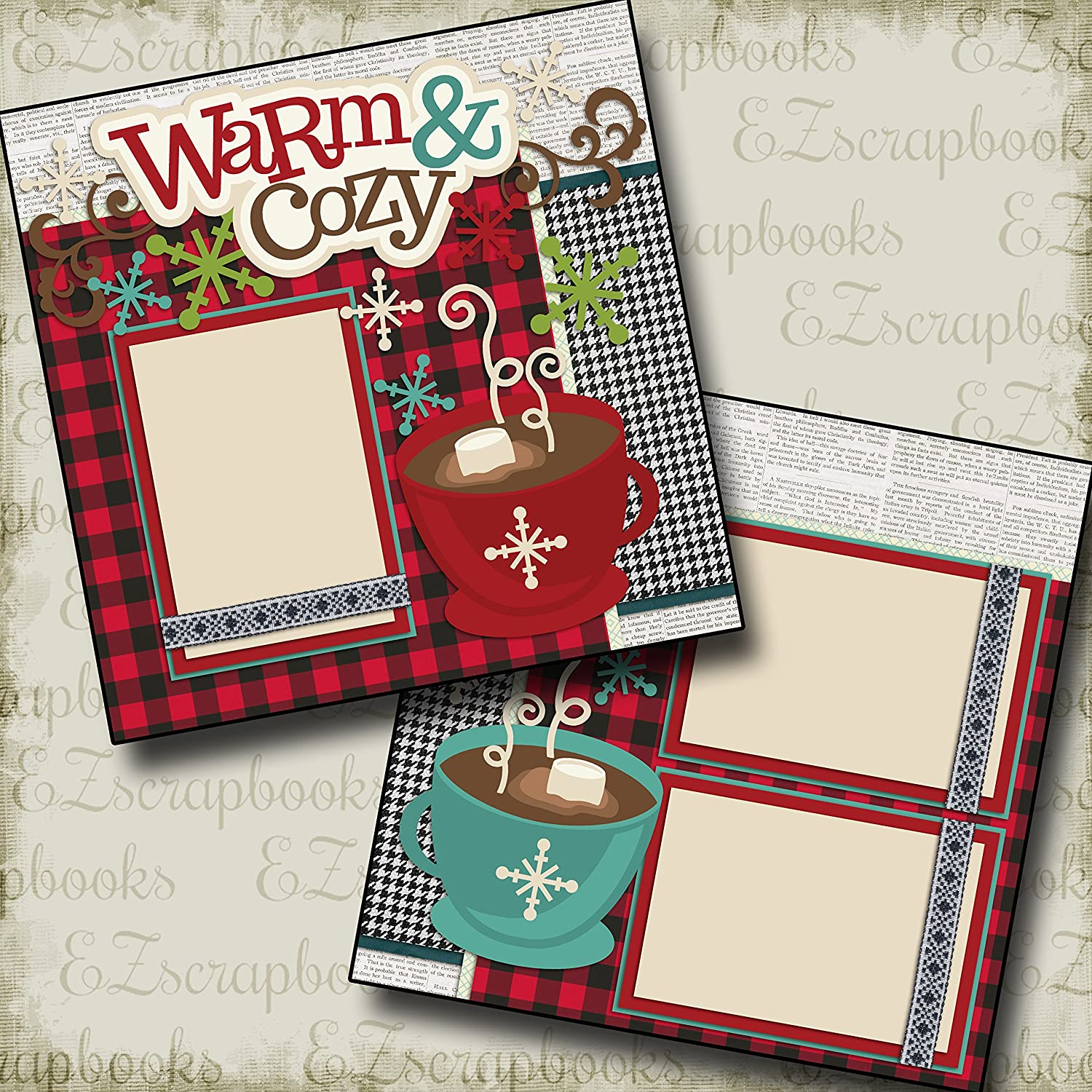 Premade Scrapbook Pages EZ Layout 3662 Snow Family Like Ours