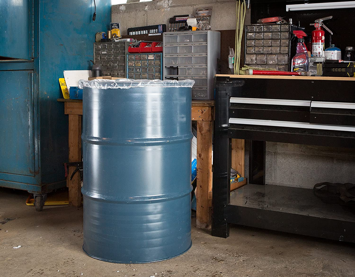 4ml Thick 24 Inch 30 Gal, 100 Pcs GOZE Elastic Drum Barrel Lid Cover Made In USA Easy slip on//off Snug fit