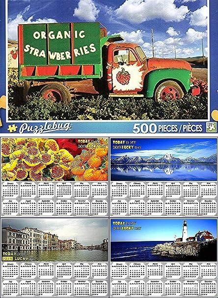 NEW Puzzlebug 500 Piece Jigsaw Puzzle ~ Organic Strawberries Farm Truck