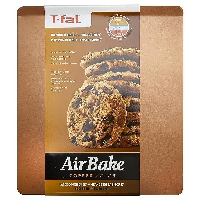 T-fal 84812 Airbake antiadherente hoja de galletas, aluminio, cobre: Amazon.es: Hogar