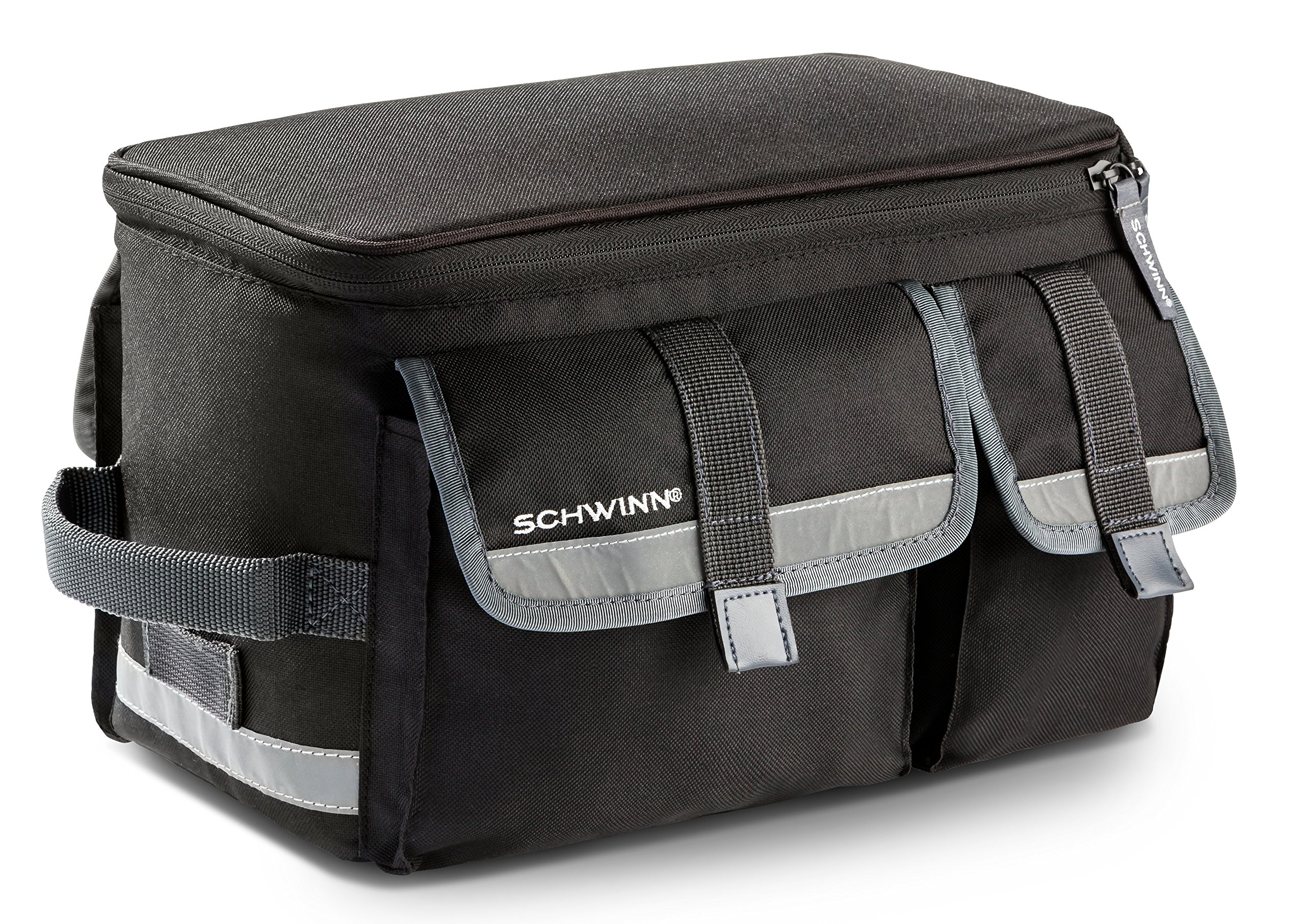 Schwinn Rack Top Bag with Reflective Strip