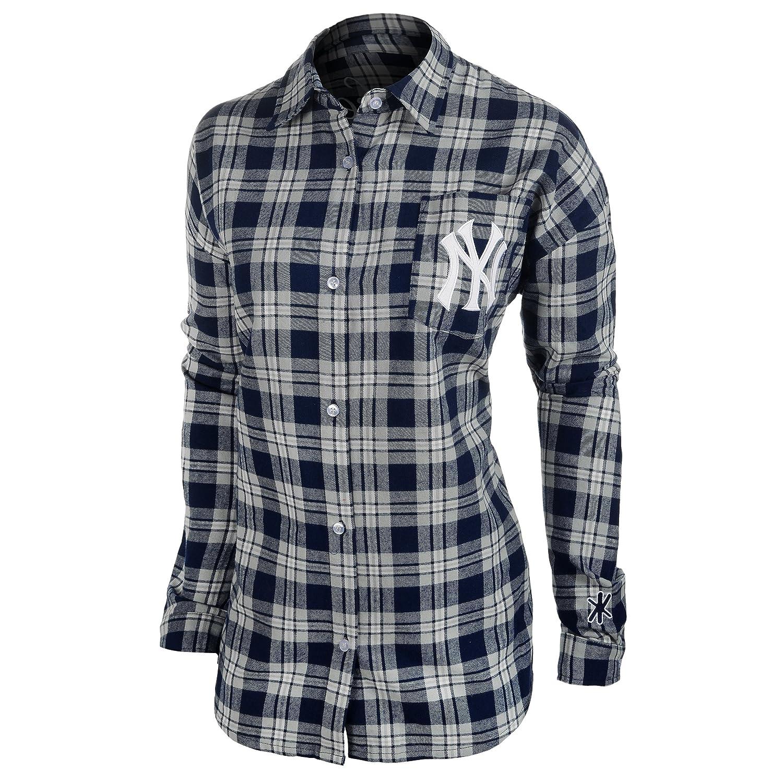 FOCO MLB Womens Wordmark Flannel Shirt