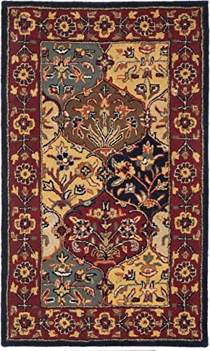 Safavieh Heritage Collection HG510A Handcrafted Traditional Oriental Multi and Navy Wool Area Rug 2 x 3