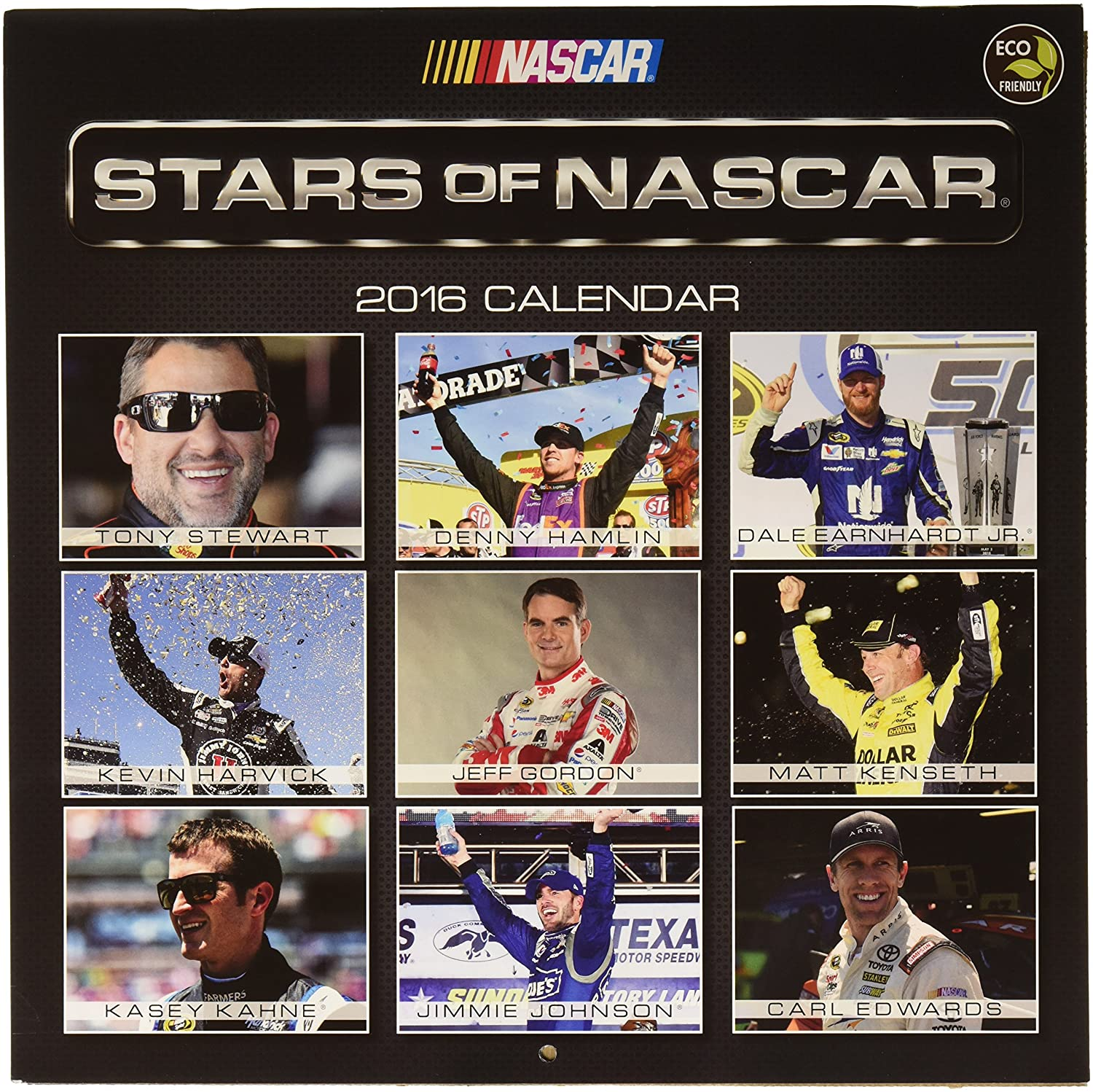 Amazon.com : Stars of NASCAR Wall Calendar 2016 by TF Publishing : Office  Products