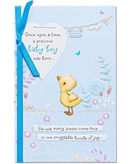 Amazon american greetings a star is born new baby boy american greetings snuggable bundle of joy new baby boy congratulations card with ribbon m4hsunfo