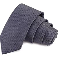 Peluche Enamoring Grey Colored Microfiber Necktie for Men
