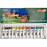 Camlin Kokuyo Student Oil Color Box - 9ml tubes, 12 Shades