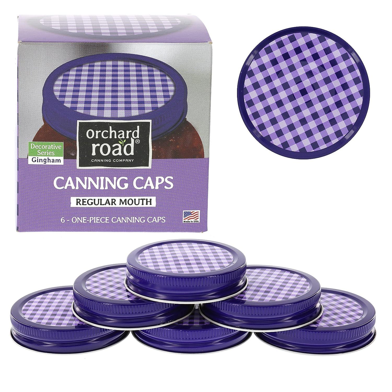 mason jar lids decorative canning caps fit regular mouth mason jars gingham. Black Bedroom Furniture Sets. Home Design Ideas