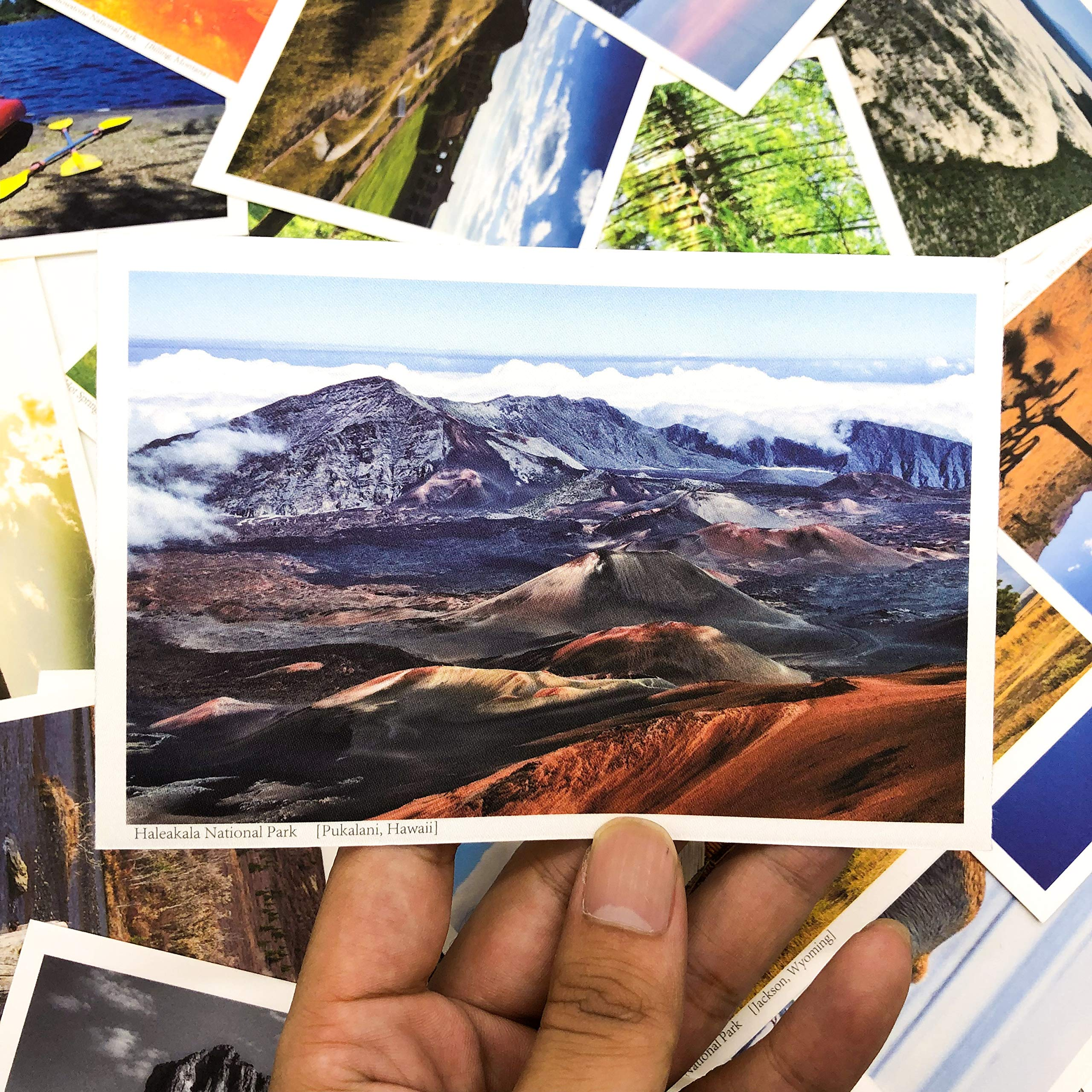 Special Silk Material 64 Sets for 59 USA National Park Postcards with Location by Ewind paper Art