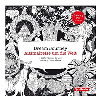 Herlitz 50007509 Dream Journey – Malblock für Erwachsene 30 Blatt ...