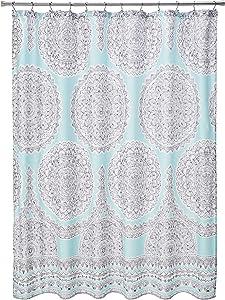 Comfort Spaces Adele Bathroom Shower Modern Boho Printed Medallion Pattern for Girls Bath Curtains, 72