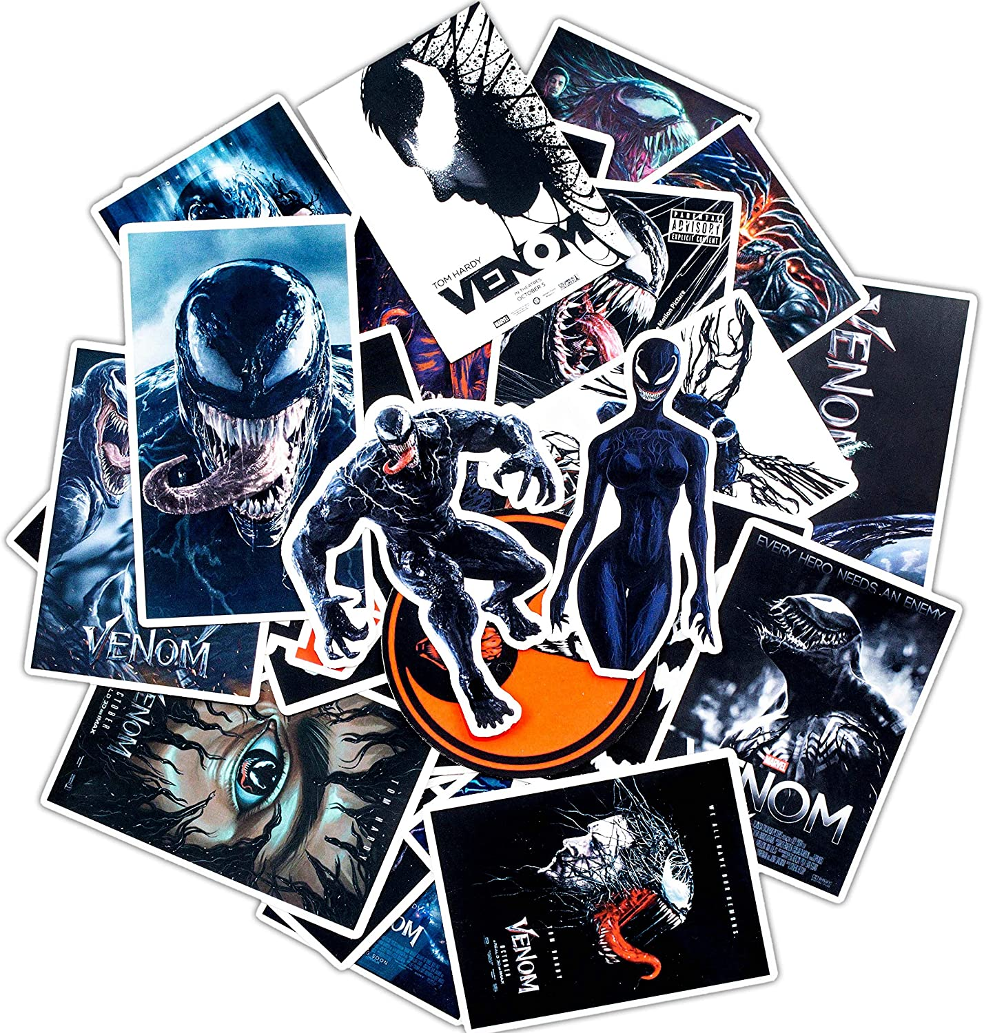 Venom Stickers for Water Bottles 30pcs,Poster Stickers Decals for Laptop Cups Tumbler Bike Car Guitar Motorcycle Bumper Luggage Skateboard(Venom)