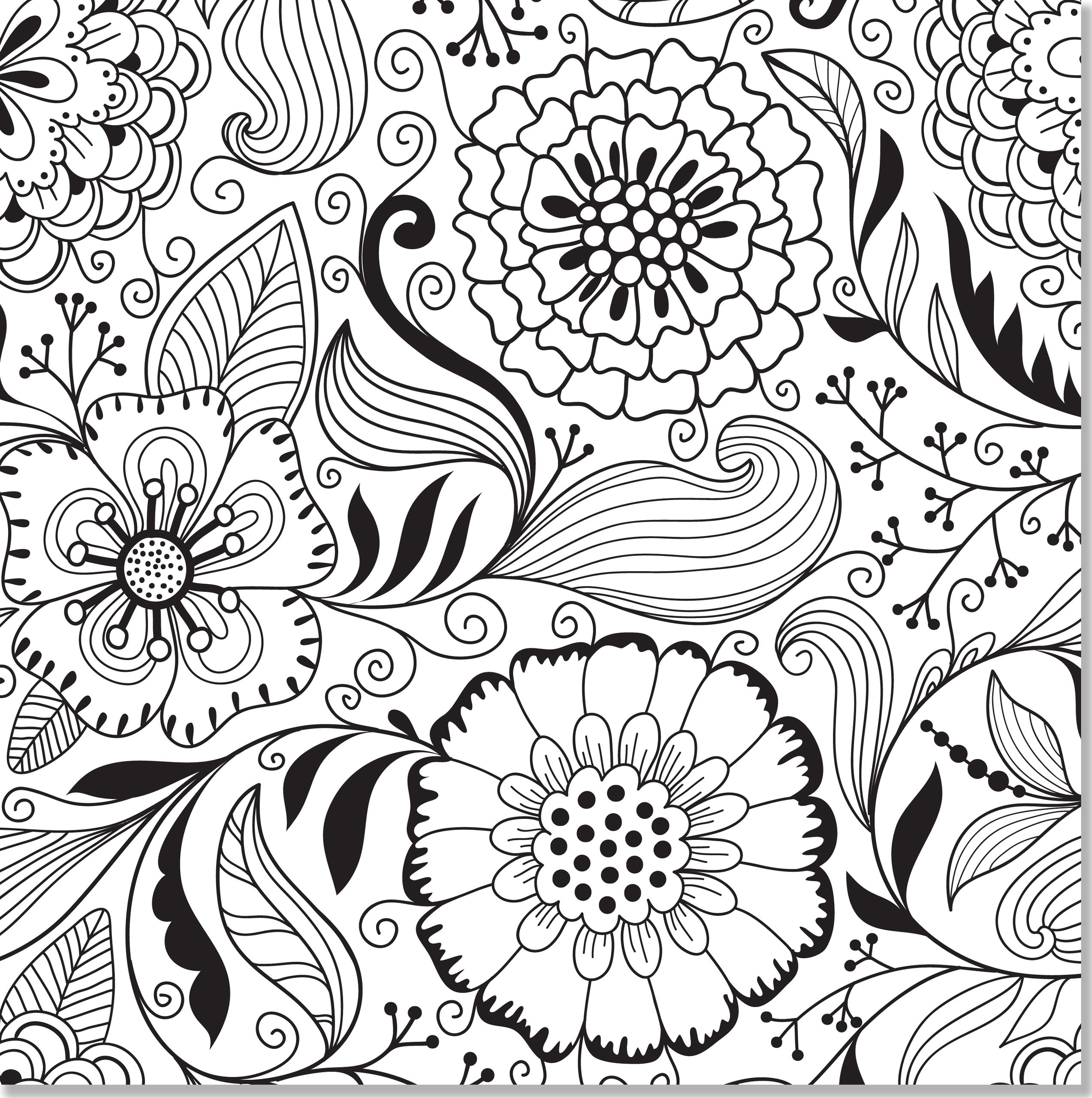 Amazon.com: Floral Designs Adult Coloring Book (31 stress-relieving ...