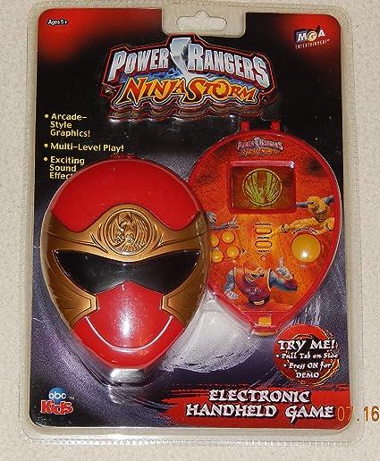 Amazon.com: Power Rangers Ninja Storm Electronic Handheld ...