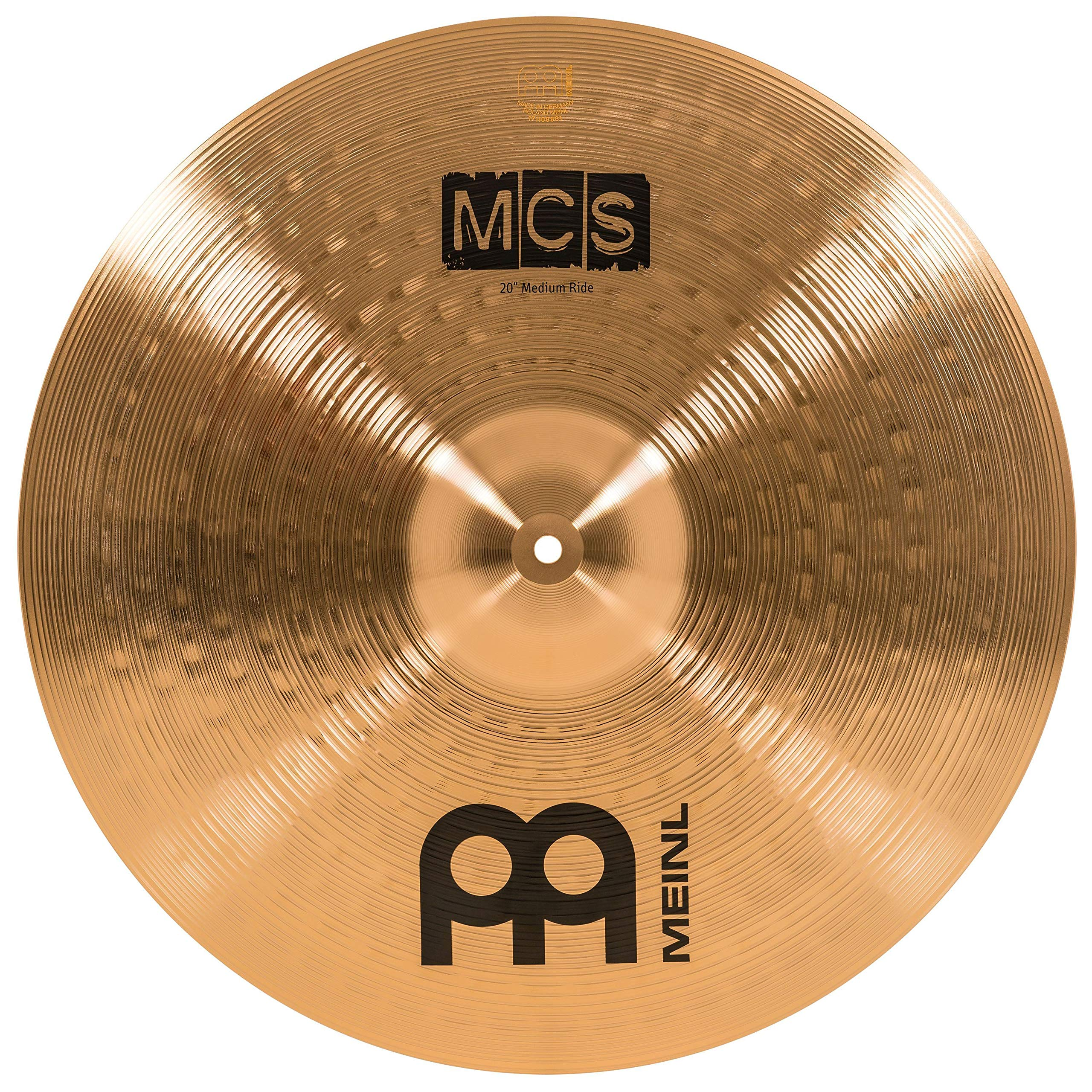 Meinl 20'' Ride Cymbal - MCS Traditional Finish Bronze for Drum Set, Made In Germany, 2-YEAR WARRANTY (MCS20MR) by Meinl Cymbals