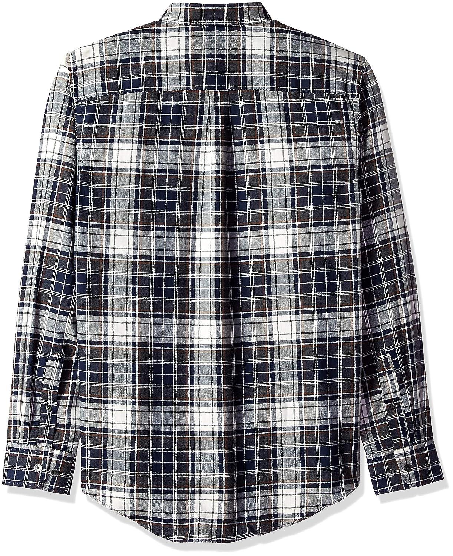 Van Heusen Mens Big and Tall Flex Long Sleeve Button Down Stretch Plaid Shirt