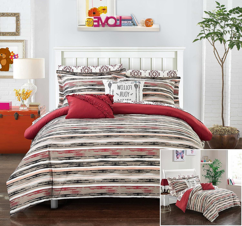 Amazoncom Chic Home 7 Piece Flordeliza Ikat Reversible Boho