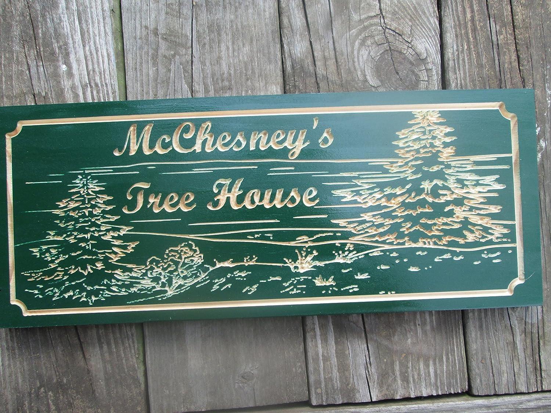 Amazon.com: Custom Lake House Sign, Personalized Cabin Sign, Custom ...