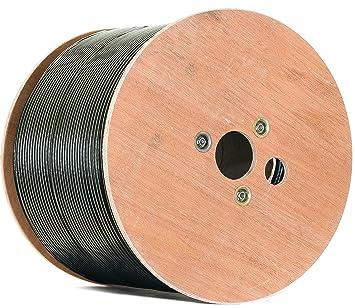 Negro 500 m Cobre Puro KU 135 dB apantallado, 5 de cable coaxial Cable coaxial