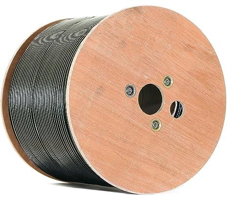 Negro 500 m Cobre Puro KU 135 dB apantallado, 5 de cable coaxial ...