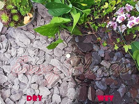 Gravilla, grava de piedra pizarra para cubrir y disuadir a las hierba para jardín, patio, camino y plantas; de 40 mm pizarra ciruela, 10 kg: Amazon.es: Hogar