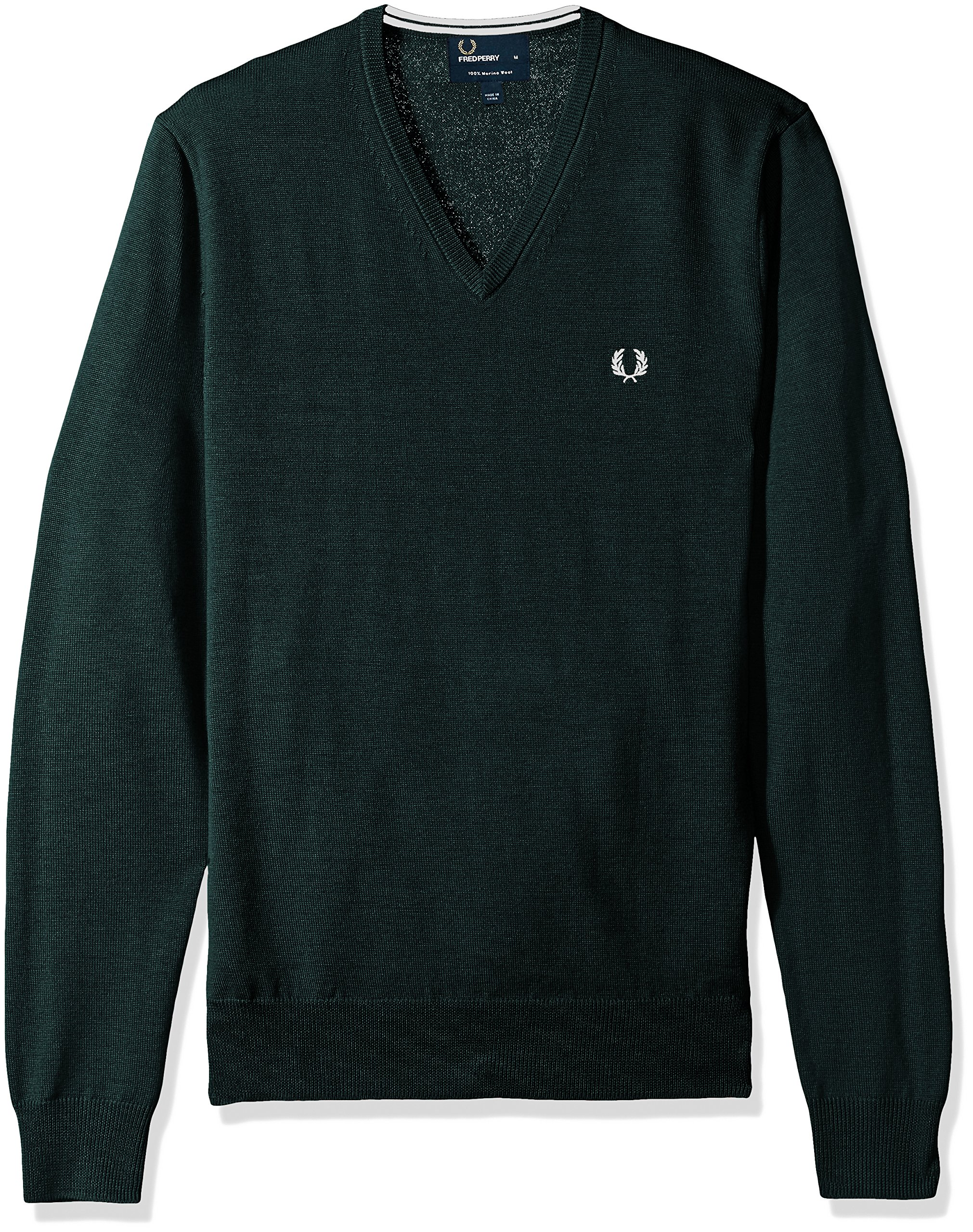 Details about Fred Perry Men's Classic V Neck Sweater,Brit Racin Choose SZcolor