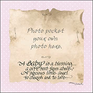 Amazoncom Lpg Greetings A Baby Is A Blessing Decor Pink Baby