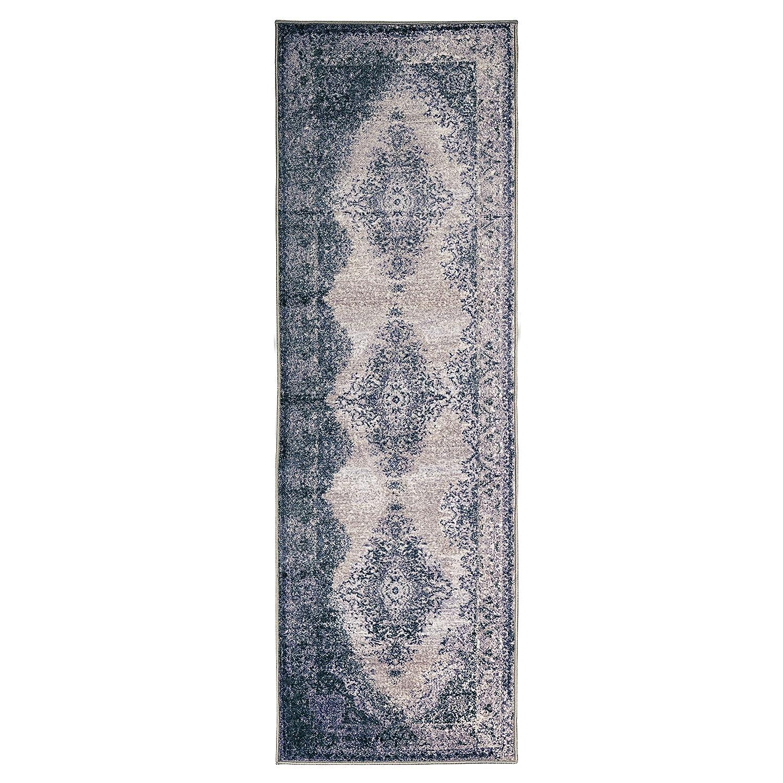Affordable and Fashionable 2 x 3 Grey Grey Superiors Designer Non-slip Eldwin Area Rug; Digitally Printed 2x3RUG-ELDWIN 2/' x 3/' Home City Inc Low Maintenance