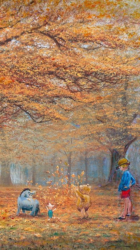 ディズニー ザ ジョイ オブ オータイム リーブス XFVGA(480×854)壁紙画像