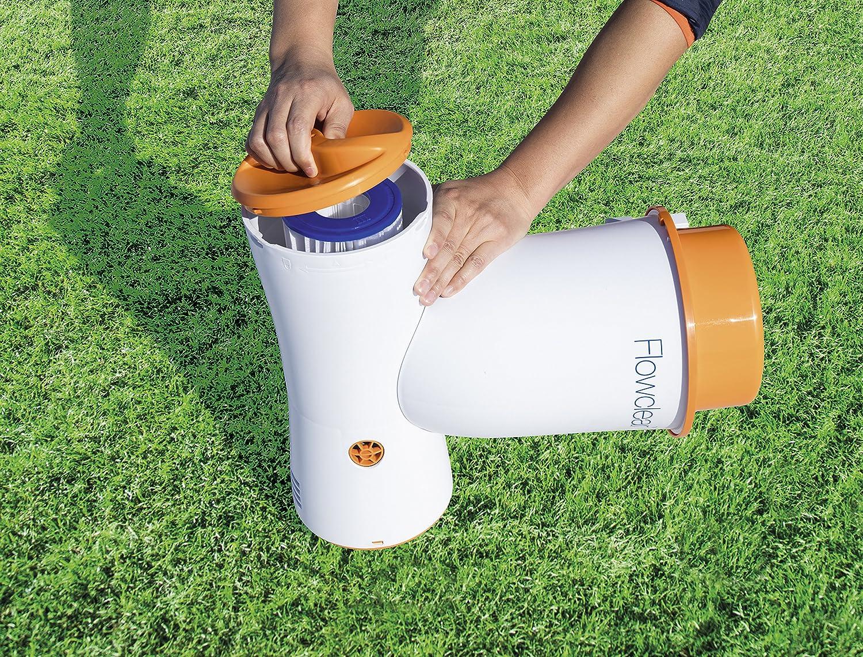 Bestway Flowclear Skimatic Einhängeskimmer Filterpumpen-Kombination weiß-orange