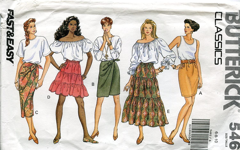 BUTTERICK Classics 5462 - Patrones de Costura para Falda de Mujer ...