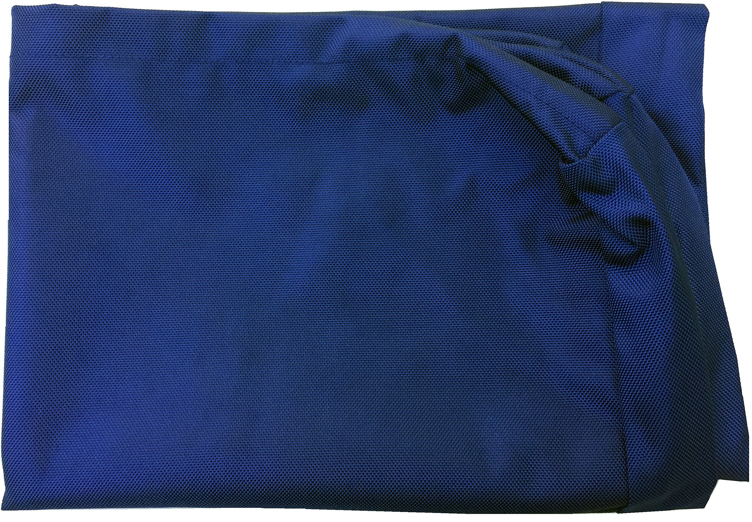 Dogbed4less Large 1680 Ballistic Heavy Duty Dog Pet Bed External Zipper Duvet Cover - Replacement cover only, 41X27X4 Inches, Navy Blue
