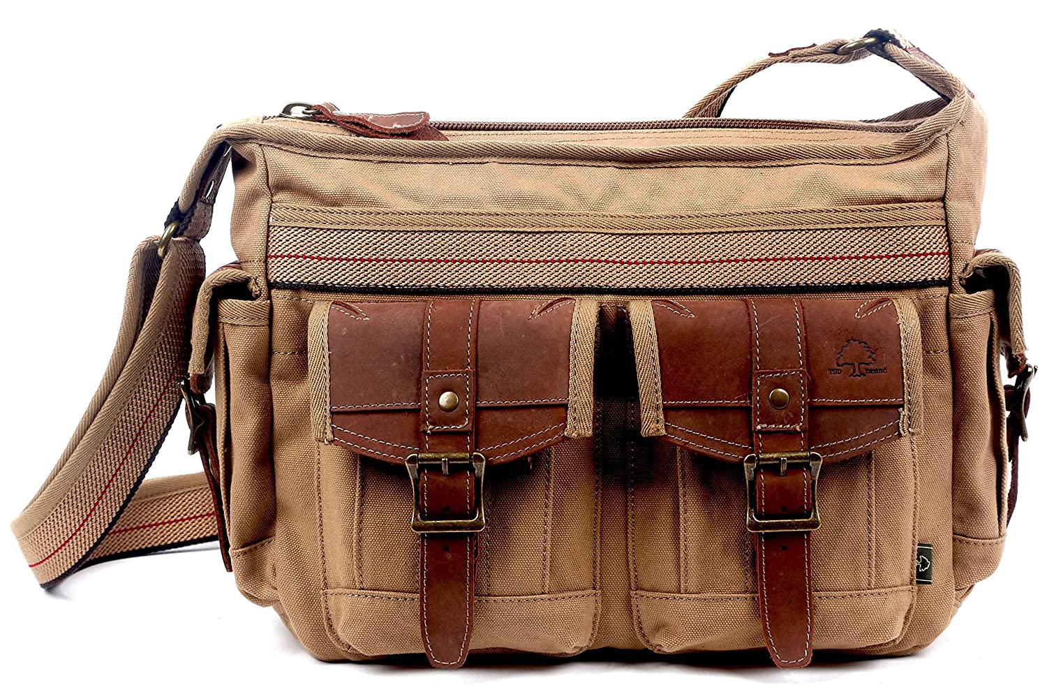 TSD Turtle Ridge Collection_Canvas and Leather Cross-body bag