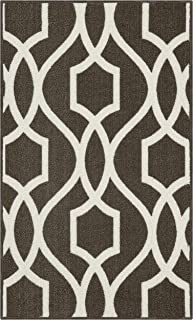 product image for Maples Rugs 1'8 x 2'10 Non Skid Washable Throw Rugs [Made in USA] for Entryway and Bedroom, Dove/Neutral
